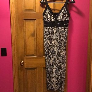 Adorable Black and Tan print maxi dress size 2x